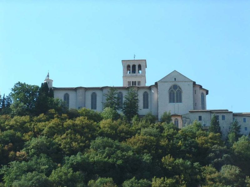 de H.franciscus-basiliek in Assisi