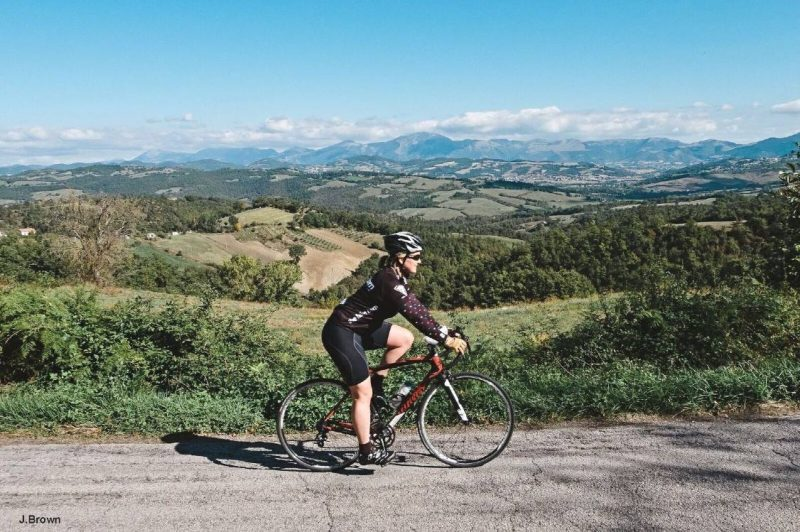 Tuscany landscape road cycling