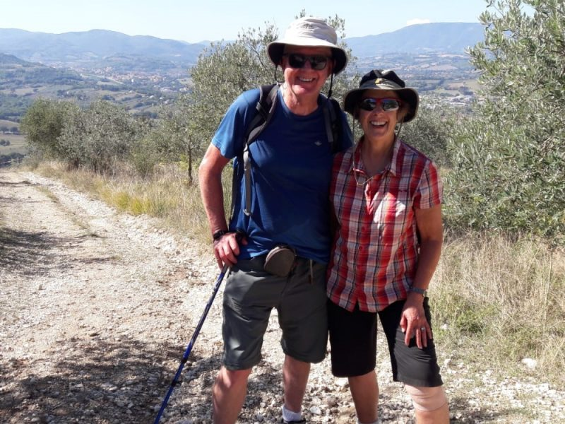 wandelaars in Umbrie