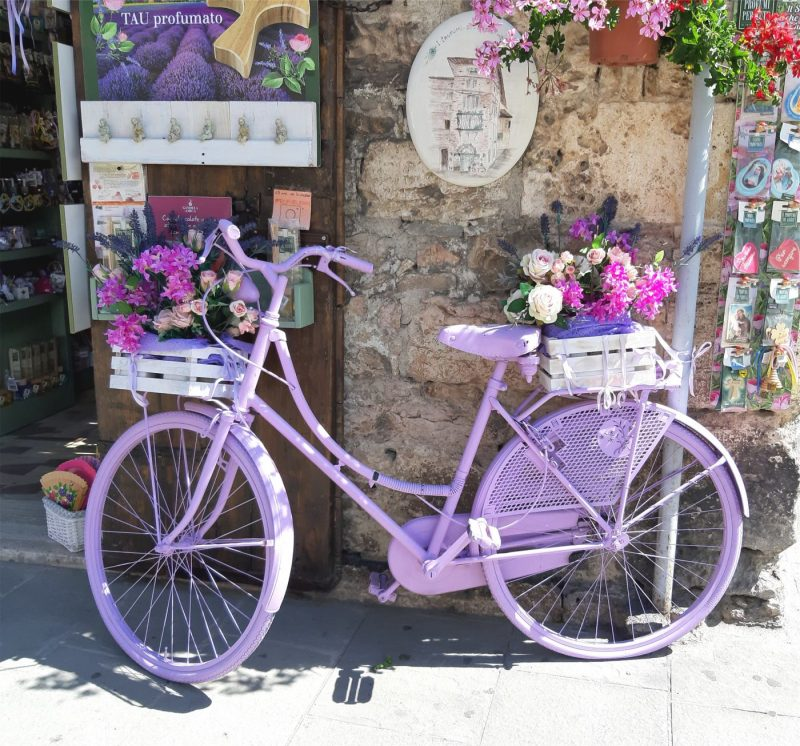 fiets in Assisi