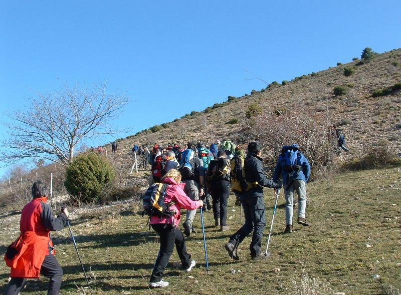 group of walkers Umbria
