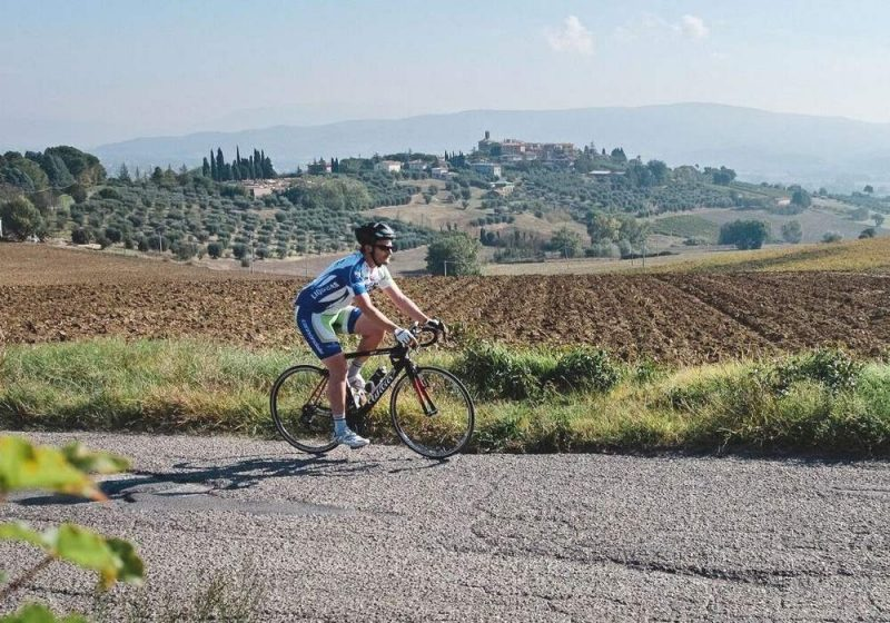 Racefietser in Umbrie